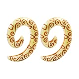 BIG GAUGES Pair of Acrylic 0g Gauge 8mm Spiral Taper Tribal Carving Symbols Piercing Jewelry Stretcher Ear Earring Plugs BG2795