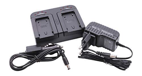 vhbw Cargador Dual Compatible con JVC GZ-MS90EU, GZ-MS95, GZ-MS95EU batería de cámara - Soporte
