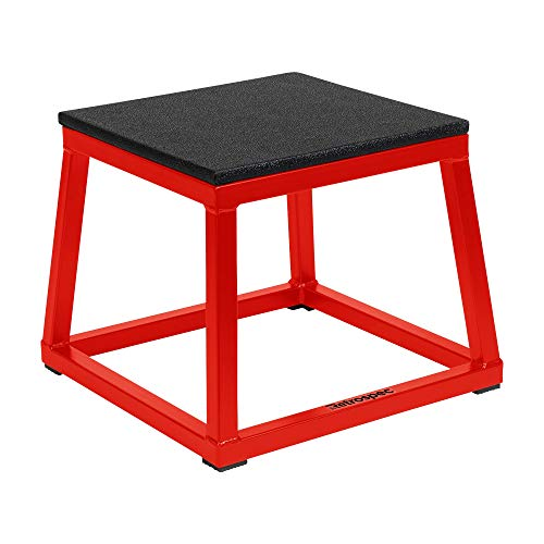 Retrospec Leap Plyo Box for Home Gym Plyometric Jumping Exercises, 12' Red