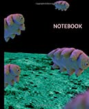 Notebook: Cute Tardigrade in Space, Moon | Trendy Wide Ruled Subject Composition Book | Blank Lined Writing Journal | Primary School, College Students ... | Work, Home, Study Organizer (7.5 x 9.25 ')