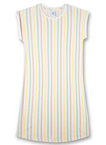 Sanetta Mädchen Sleepshirt Stripe gelb Nachthemd, Lemon, 128