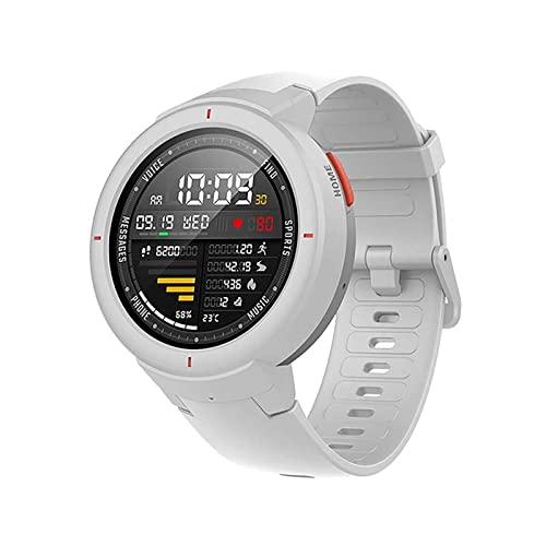 XYZK Reloj inteligente para hombre con pantalla AMOLED 1:3, monitor de frecuencia cardíaca superbatería, rastreador de fitness IP68, resistente al agua para Android IOS (A)