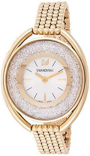 Swarovski Reloj de pulsera ovalado cristalino tono dorado