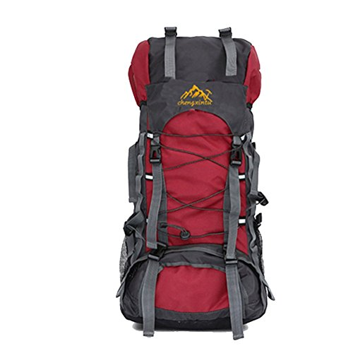 hikerway étanche 60 L chasse Wild Camping Voyage Ordinateur poche sac à dos, Rouge