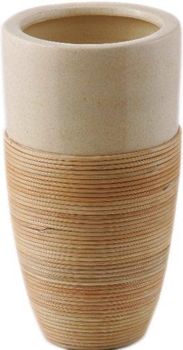 Vase haut Bamboo Rosen Pot Diamètre 16 Cm (H./21 x 30 x 45 H Lot de 2 pièces)