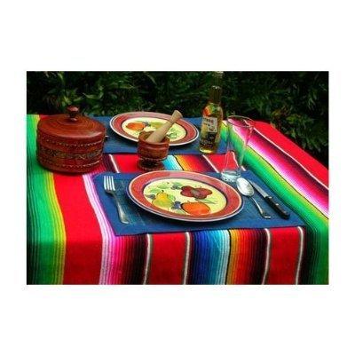 Roger Enterprise Große authentische mexikanische Saltillo-Sarape-Decke mit verschiedenen hellen Farben.