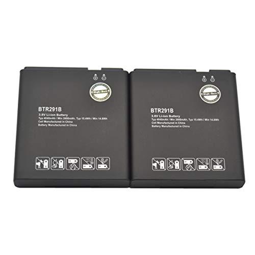 High-Batt BTR291B Battery, Replacement Battery for Pantech 291LVW-7046 MHS291L MHS291LVW MHS291B Jetpack 4G LTE Pantech 291LVW Verizon 291LVW-7046 Hotspot MHS291L Hotspot MHS291LVW (Pack of 2)