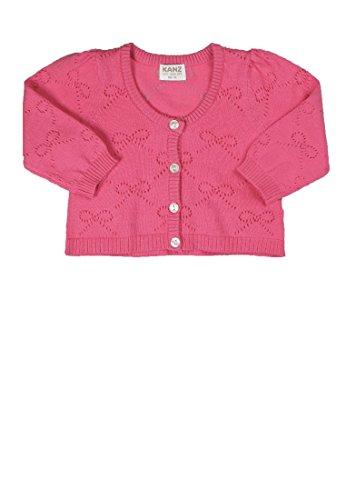 Kanz Baby - Mädchen Strickjacke 1/1 Arm, Einfarbig, Gr. 86, Rosa (Bubblegum Pink 2067)