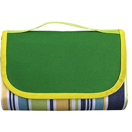OMMO LEBEINDR Picknick-Decke, wasserdichte Outdoor-Matte, Faltbare Picknick-Matte Basics Picknick-Decke Camping Faltbare Teppich 195x200cm