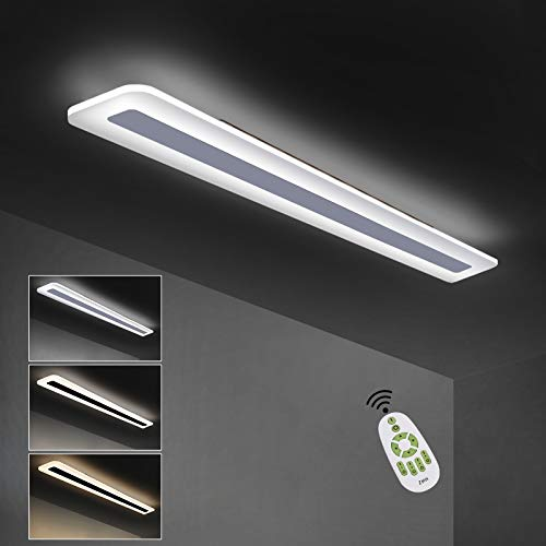 ZMH LED Deckenleuchte Panel dimmbar mit Fernbedienung 80cm 30W aus Metall und Acryl weiße Bürolampe moderne Deckenbeleuchtung geeignet auch für Wohnzimmer Schlafzimmer Flur Küche Balkon