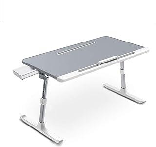 折りたたみ式 ノートパソコンスタンド ンテーブル pc 凹溝付き タブレット・ スマホ ベッド テーブル 高さ ローテーブル 机上台 角度調節可能 多機能 軽量 大容量表面 灰色
