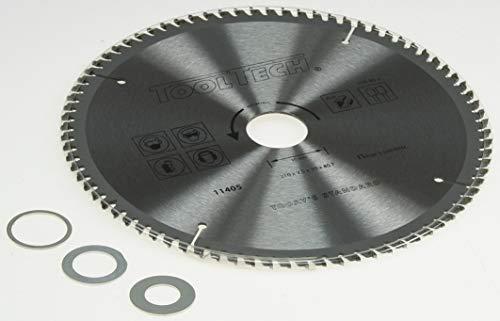 210 x 30mm HM NE Metall Kreissägeblatt 80 Z 3 Reduzierringe Alu Kunststoff Eisen