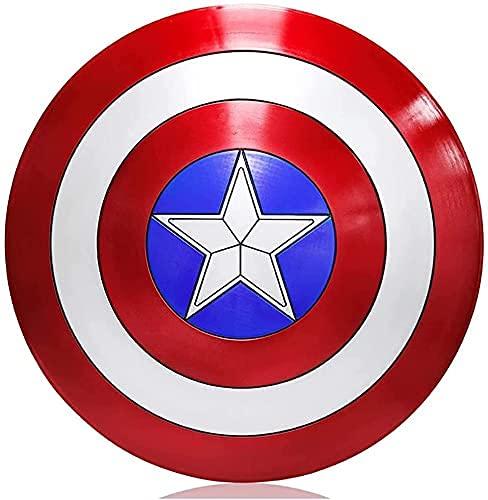 Getrichar Vengadores Capitán América Escudo 1: 1 Juguete de Halloween Niños Adultos Accesorios de Cosplay Bar Decoración 58 cm