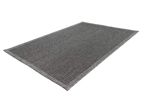 Sisal tapijt modern design punten patroon gestructureerd keuken tapijten grijs taupe 80cm x 150cm zilver