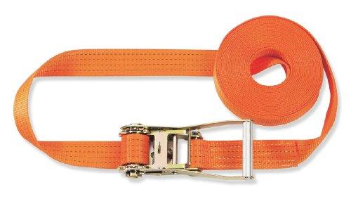 Braun - Pulpo con hebilla para baca (4000 daN, 6 m, 50 mm de ancho), color naranja