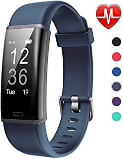 Lintelek Fitness Tracker, Customized Activity Tracker with Heart Rate Monitor, 14 Sports Modes Smart Watch Bluetooth Pedometer