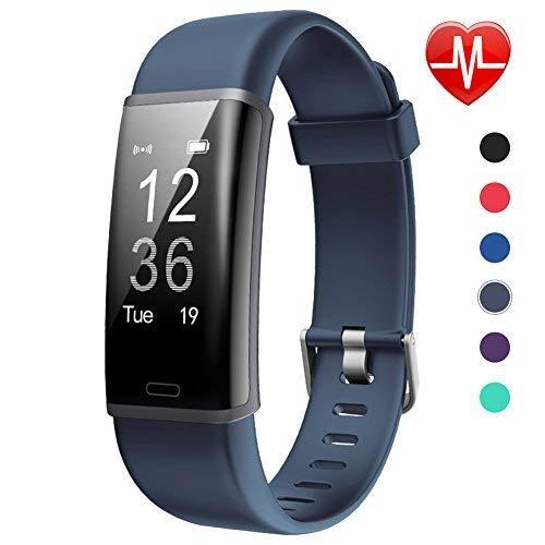 Lintelek F Fitness Tracker d'activité personnalisé avec Moniteur de fréquence Cardiaque, ASHY, écran 0,96'