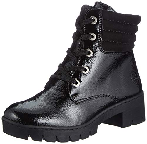 Rieker Damen X5704 Mode-Stiefel, schwarz, 38 EU