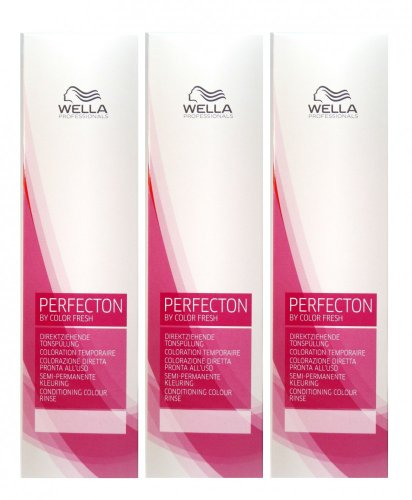 Wella Perfecton /8 perl 3 x 250 ml Tonspülung by Color Fresch Professionals
