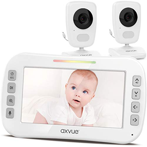 [Brand New] Video Baby Monitor 5' High Resolution Screen, 2 HR Cam, Extra Long...