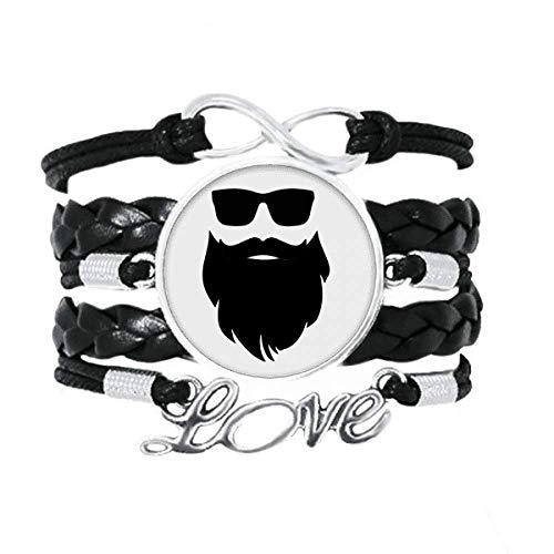 OFFbb-USA Shadow Great Beard - Pulsera de gafas de sol para barba, accesorio de amor, cuerda de tejer trenzada, regalo