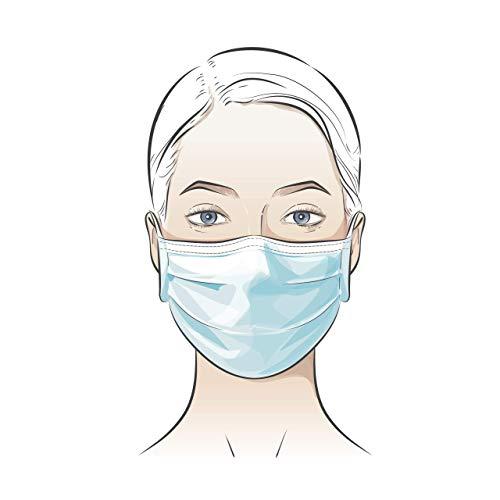 Mundschutz 50 Stück Mundschutzmasken, Gesichtsmaske, Atemmaske (5x10er in Spenderbox) 3-lagig Disposable 3 ply Face Mask non-woven CE und EN14683 Zertifizert Versand aus DE