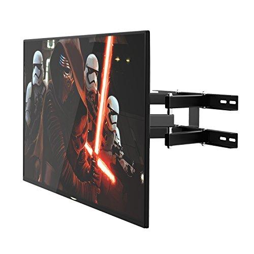 1homefurnit Corner Full Motion TV Bracket Cantilever Double-Arms Tilt Swilvel Wall Mount for 32 37 40 42 46 47 50 52 55 60 63 70 inch LCD LED Plasma Flat Screen