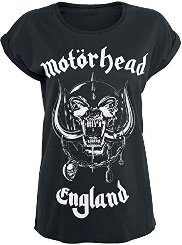Motörhead England Mujer Camiseta Negro M, 100% algodón, Ancho