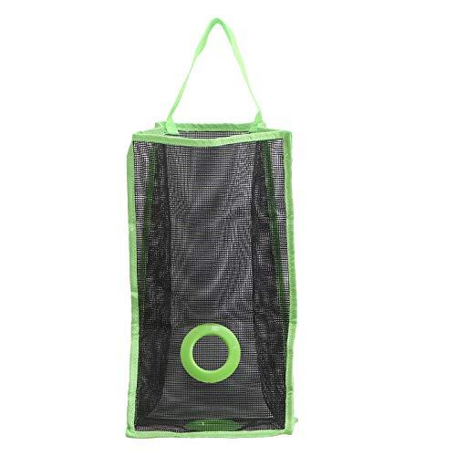OUNONA Porta Sacchetti di plastica Porta Buste di plastica Porta Sacchetti Spazzatura da Appendere Porta Sacchetti Cucina - Taglia L (Verde)