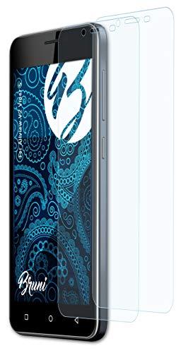 Bruni Schutzfolie kompatibel mit Allview V2 Viper S Folie, glasklare Bildschirmschutzfolie (2X)