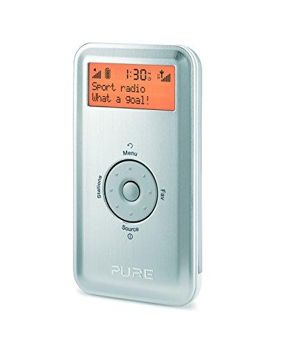 Pure Move 2500 portatile DAB radio compatta Player (DAB/DAB+/FM con RDS, 20 stazioni memorizzabili) Silver