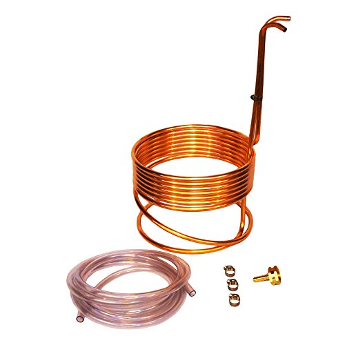 Home Brew Stuff WC-25 HomeBrewStuff Super Efficient 3/8' x 25' Copper Wort Chiller