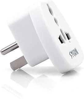 SYCON USA Canada Travel Plug Adapter Type B -Universal Grounded Wall Plug Adapter
