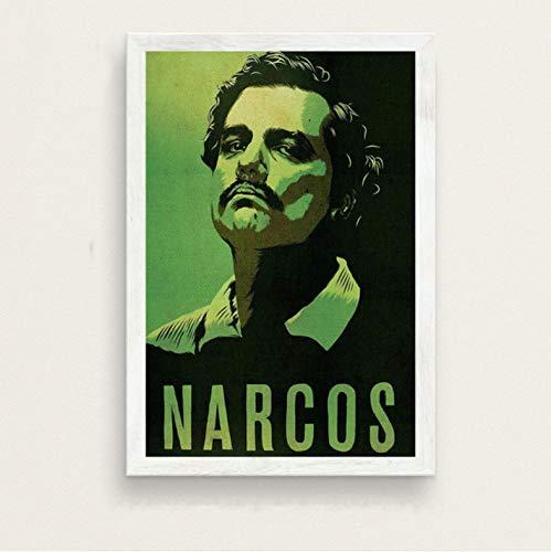 zpbzambm Frameless Wall Painting 40X50Cm - Pablo Escobar Hot Famous Painting Silk Art Canvas Wall Poster Home Decor Zp-1432