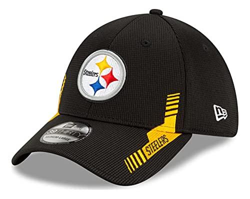 New Era - NFL Pittsburgh Steelers 2021 Sideline Home 39Thirty Stretch Cap - Nero, Nero , S/M