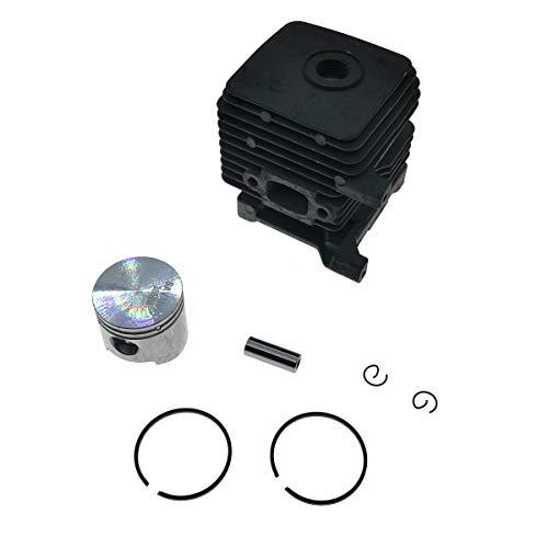 Cancanle 34mm Cilindro con pistone per STIHL FS38 FS45 FS45C FS45L FS46 FS46C FS55 FS55C FS55R FS55RC FS55T HS45 FC55 KM55 KM55C KM55R KM55RC BG50