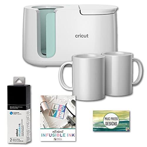 Cricut Mug Press Machine, Infusible Ink Sheet, Mugs, Designs Bundle