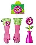 Vigar Flower Power - Juego de 3 piezas para lavar platos, incluye cepillo con soporte, esponja con s...