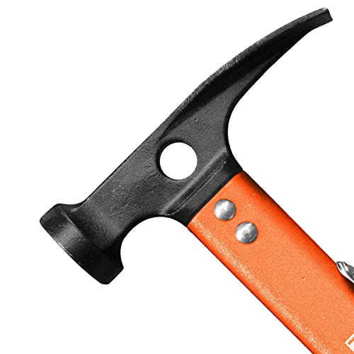 Naturehike Camping Outdoor Hammer Aluminum Multi-Function Hammer Tent Hammer with Carry Bag (Orange)