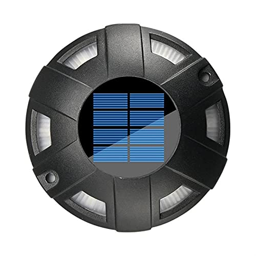 Luces de cubierta solar 4 Pack DIRIGIÓ Light Solar Powered Outdoor Impermeable para la estación de la acera Pasando Jardín de Jardín Pathway Yard ( Emitting Color : Black White light , tamaño : 4pcs )