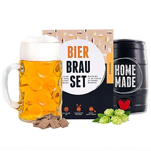 Männergeschenk Bierbrauset zum selber brauen | Festbier im 5 Liter Fass | In 7 Tagen gebraut | Tolles Geburtstagsgeschenk für Männer | Braufässchen