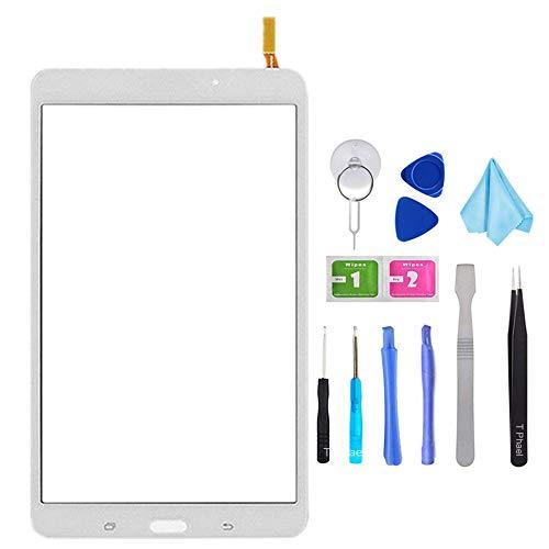 Tefir Blanco Pantalla táctil digitalizadora de Cristal para Samsung Galaxy Tab 4...