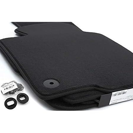 Ad Tuning Gmbh Hg11355 Velours Passform Fußmatten Set Schwarz Autoteppiche Teppiche Carpet Floor Mats Auto