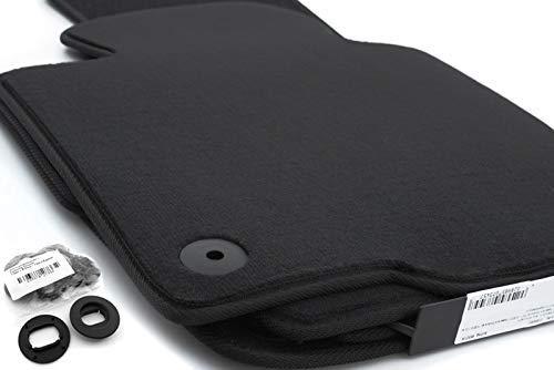 Fußmatten Set passend für Passat B6 B7 alle Velours Automatten, 4-teilig, schwarz