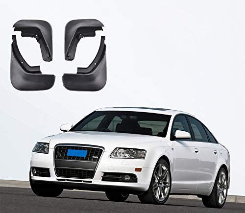 GJPSXTY 4 Uds Guardabarros para Audi A6 C6 2006-2010, Guardabarros Moldeados, Guardabarros para Coche, Guardabarros Delantero Y Trasero