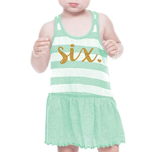 Bump and Beyond Designs Sixth Birthday Outfit Girl Six Year Old 6th Birthday Summer Dress Green