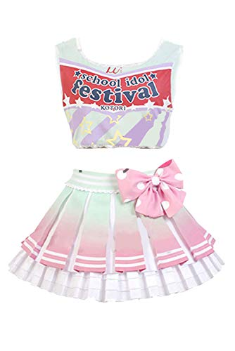 UU-Style LoveLive! Minami Kotori Cheerleaders Uniform Cosplay Costume