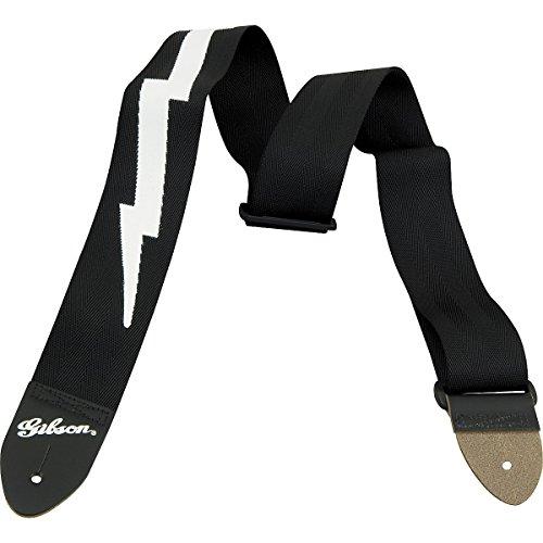 Gibson Gear ASGSBL-10 Lightning Bolt Gitarrengurt, schwarz