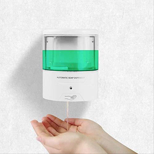 HUANGJ Dispensador De Jabón Líquido 600 / 700ml Dispensador Automático De Jabón con Sensor IR Bomba De Loción De Jabón De Cocina Sin Pared para Baño De Cocina 600ML