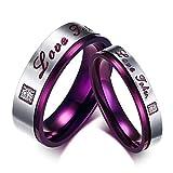 ZAKAKA 指輪 メンズ ステンレス レディース リング カップル指輪10号 12号 14号 17号 19号 21号 24号を提供する 婚約 (メンズ, 24)